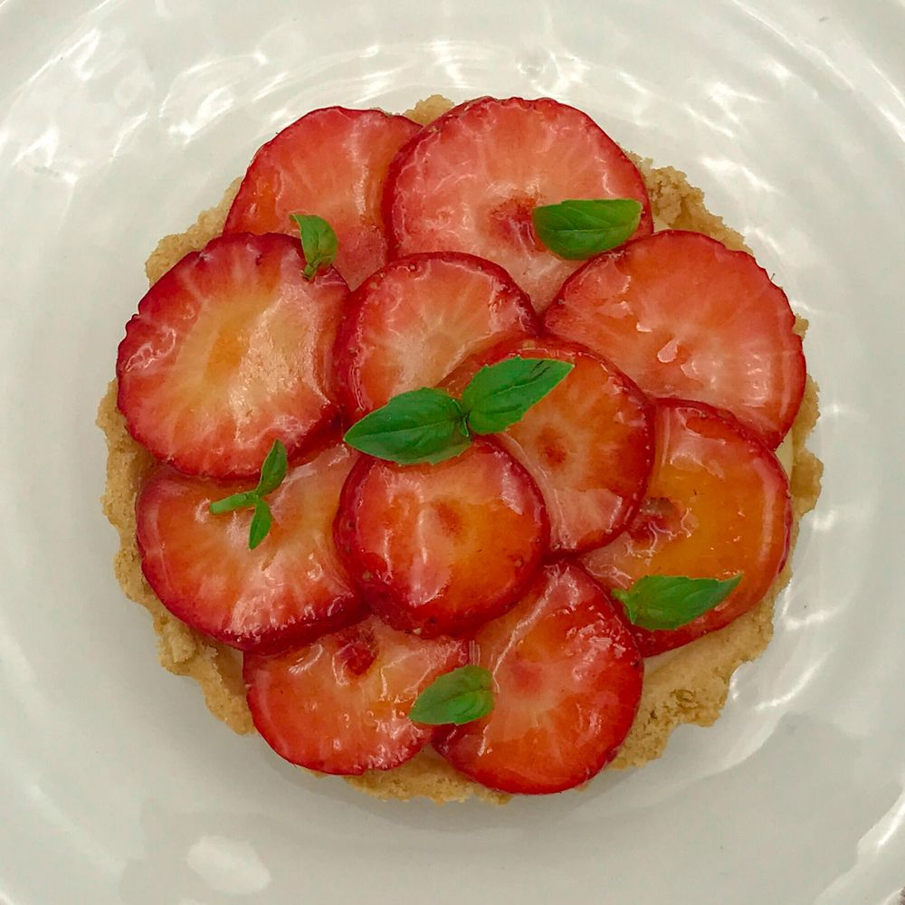 strawberry, basil, chef, recipe, elderflower