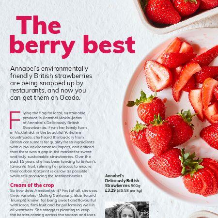 Ocado, Annabel, strawberry, yorkshire
