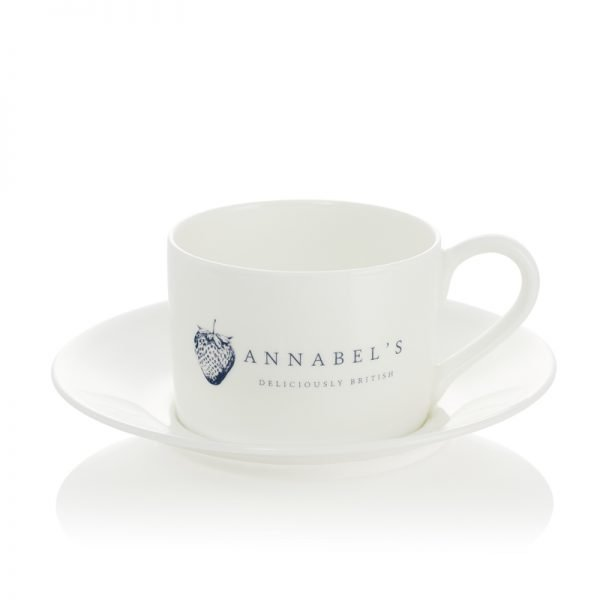Annabel's Deliciously British cup and saucer