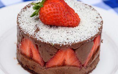 Strawberry & Chocolate Torte