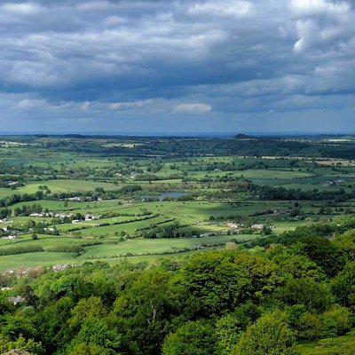 Yorkshire green landscape with a cloudy sky
