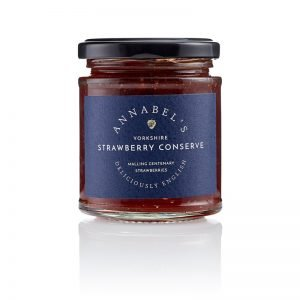 A jar of Annabel's Strawberry Conserve