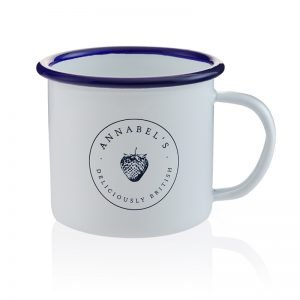 Annabel's Deliciously British enamel mug