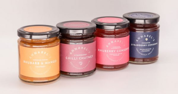 Annabel's four flavours of Jams and Chutney's