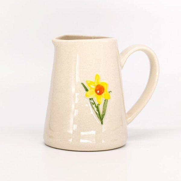 Gisela Graham ceramic daffodil jug